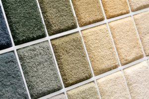 Carpet samples in wide array of colors